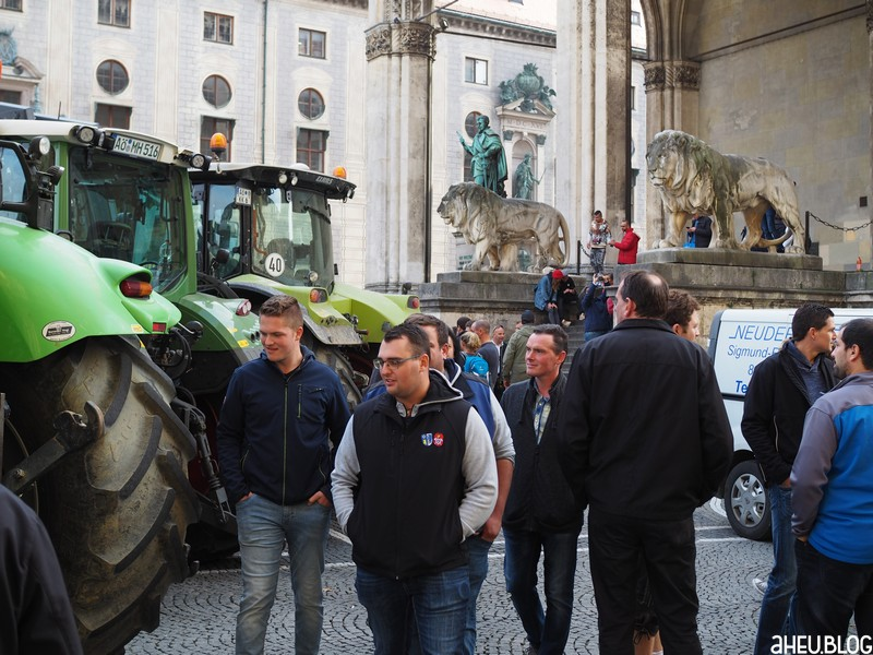 Traktoren Männer Feldherrenhalle